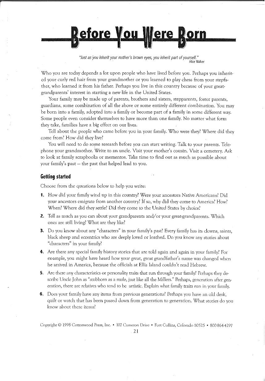 developing background  u2013 narrative writing lesson  u2013 miss