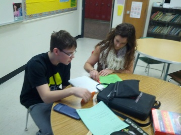 Working individually with student tutoring