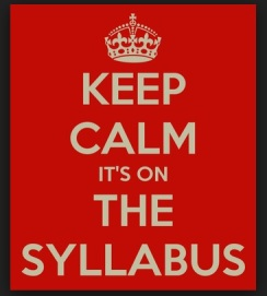 Creating syllabi for my classes