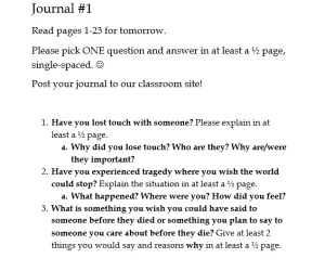 How To Write An Essay Proposal Example Tuesdays With Morrie Final Essay Assignment Sol Sister Adventures Tuesdays  With Morrie Final Essay Assignment Sol Corruption Essay In English also Thesis Statements Examples For Argumentative Essays Term Papers Foster Care Essay Transition Writing God In The Dock  Critical Essay Thesis Statement