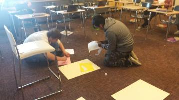 Decorating poems and poster boards!