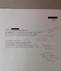 Here is one student's original poem with my suggestions/edits.