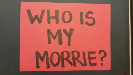 Who Is My Morrie? The poetry wall.