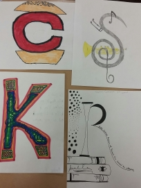 'C' for Condiment-Hater, 'K' for Killa (he said he was 'too cool', 'R' for Reading Nerd, and 'S' for hates to Sing.