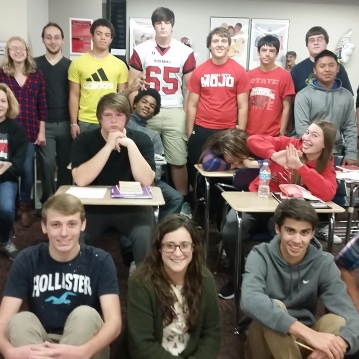 My 4th hour English 10, a tough crowd to get to smile! :P