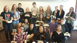 Posing with our Norton textbooks on my last day!