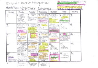 Unit Planning - I created a long-term unit plan for each of my classes to organize how I was teaching, what activities, and when. This is mine for House on Mango Street. The highlighter corresponds with assessments and standards.