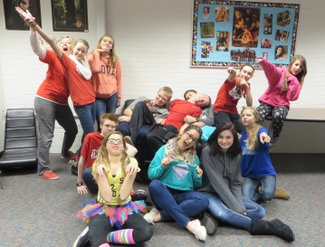 Goofing around with my eighth graders, period 3