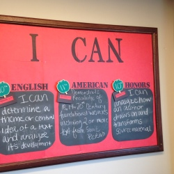 My 'I Can' board with our latest standards added!