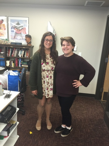 One student asked me to take a picture with her on my last day!
