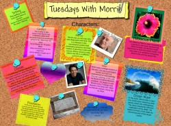 Starting from 'Who is Morrie Schwartz' drawing activity to 'Who is Morrie Now?' symbols activity.