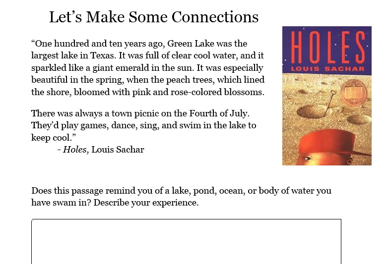 connecting to holes  by louis sachar  u2013 miss donnelly u0026 39 s