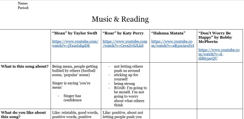 Connecting contemporary music to reading in Book Club