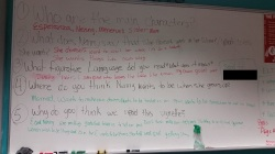 Students were the teachers today. Here are their notes and questions.