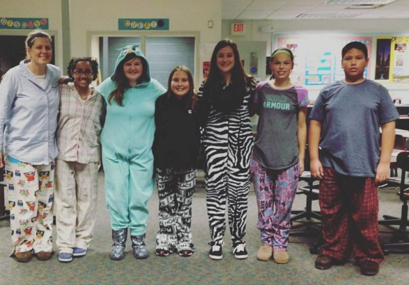 PJ Day at Forest City Middle School!
