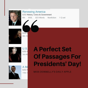 A Perfect Set Of Passages For Presidents' Day!