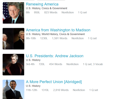 President's Day Articles on ReadWorks.org